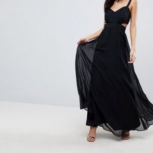 ASOS Side Cut Out Strapless Maxi Dress